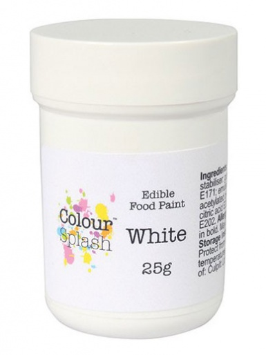 Colour Splash Edible Food Paint  - White