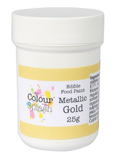 Colour Splash Edible Food Paint  - Metallic Gold