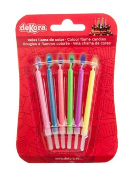 Coloured Flame Birthday Candles