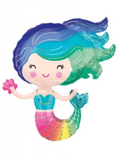 SuperShape - Colourful Mermaid Balloon - 29'' Foil