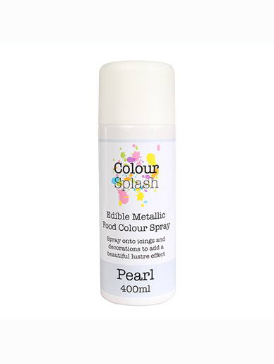 Colour Splash Edible Metallic Spray - Pearl 400ml