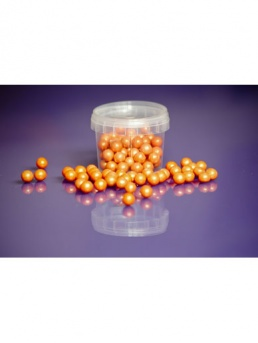 Pearl Orange - Large Sugar Pearls 10mm - 80g