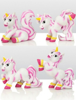 Assorted Resin Unicorn Cake Toppers (Set of 4)
