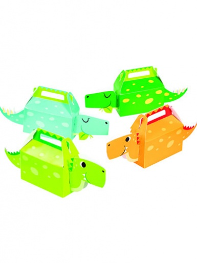 Dinosaur Treat Boxes - Boys, Pack of 4