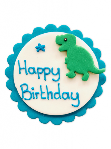 Happy Birthday Plaque - Dinosaur