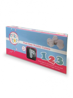 Cake Star Push Easy Cutters - NUMBERS 10 PIECE SET