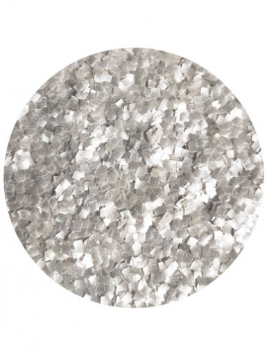The Vanilla Valley - Edible Glitter Squares SILVER - Large Pot 20g