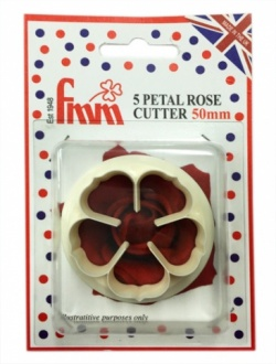 FMM Cutter - 5 Petal Rose 50mm