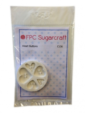 Heart Buttons Silicone Mould