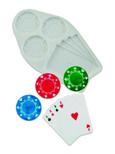 Poker Chips & Cards Silicone Mould