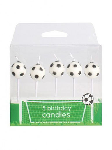 Football Candles - Pack of 5