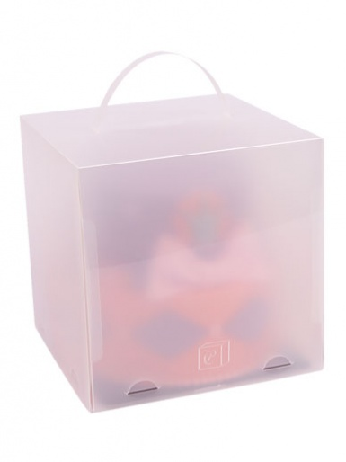 ChocoPatiss Plastic Deep Cake Box - Frosted