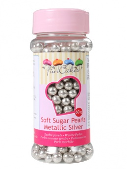 FunCakes Soft Pearls  - Metallic Silver 55g
