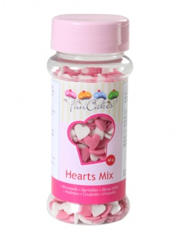 FunCakes Hearts - Pink/White 60g