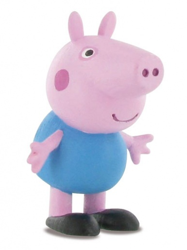 George Pig from Peppa Pig (blue outfit) Figure Cake Topper