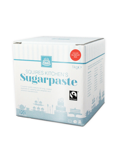 Glamour Red Squires Kitchen Fair Trade Sugarpaste 1kg