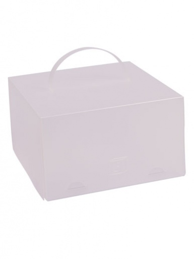 ChocoPatiss Plastic Half Height Cake Box - Gloss