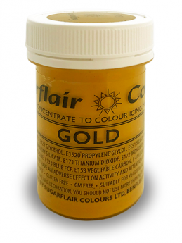 Sugarflair Satin Paste - Gold