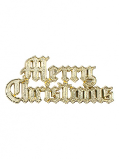 Gold Motto Merry Christmas