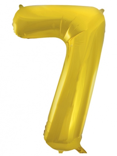 Gold Foil 34'' Balloon - Number 7