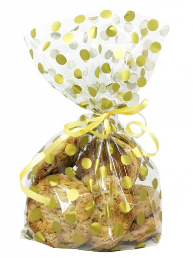 Gold Polka Dot Treat Bags - Pack of 20