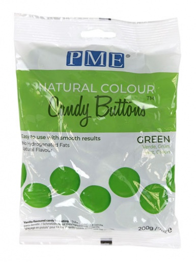 Candy Buttons - NATURAL COLOUR GREEN 200g (7oz)