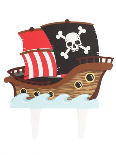 Gumpaste Cake Topper Pic - Pirate Ship