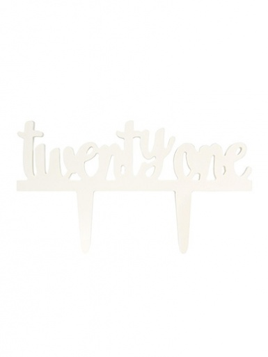 Gumpaste Cake Topper Pic - Twenty One