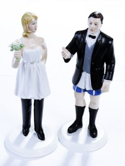 ''Bride in Charge'' - Humorous Figurine