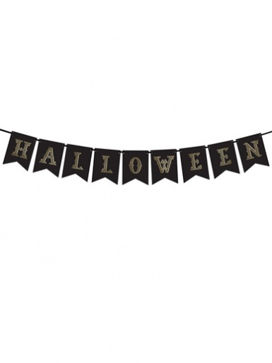 Halloween 'Halloween' Black Flag Banner