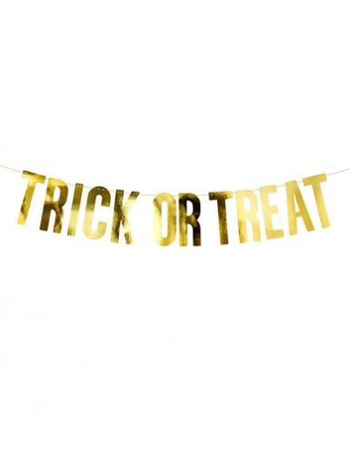 Halloween Gold TRICK OR TREAT Banner