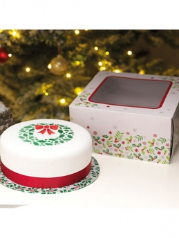 Christmas Holly Box and Cake Card Combo - 10''