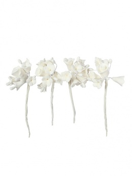 House of Cake Mini Sugar Flower Spray - White