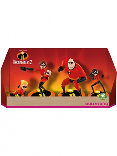 The Incredibles 2 - Set of 4 Cake Topper Figures