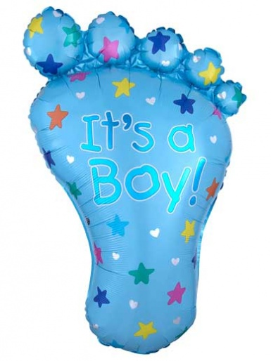 'It's a Boy' Blue Foot Balloon - 32'' Foil