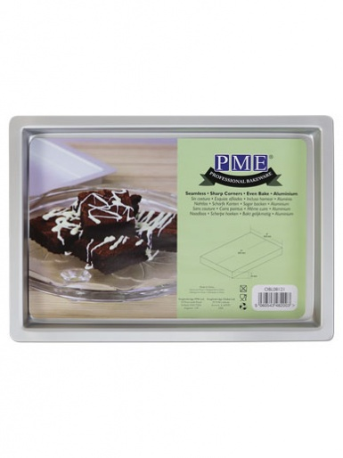 PME Brownie Oblong Cake Pan - 8 x 12 x 1 inch