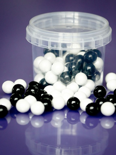 Black & White - Large Sugar Pearls 10mm