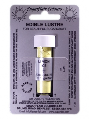 Sugarflair LEMON ICE Edible Lustre Dust Powder