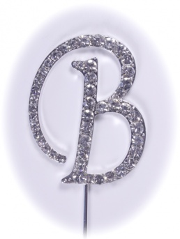 Diamante Letter on Stem - B