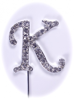 Diamante Letter on Stem - K