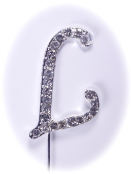 Diamante Letter on Stem - L