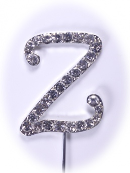 Diamante Letter on Stem - Z