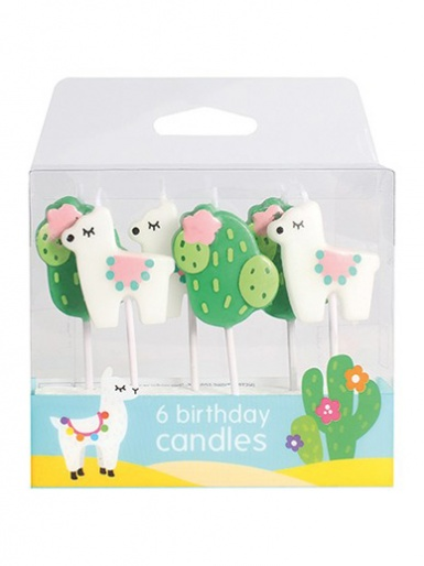 Llama and Cactus Candles - Pack of 6