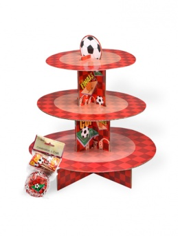 3 Tier Football Cake Kit Stand in Red