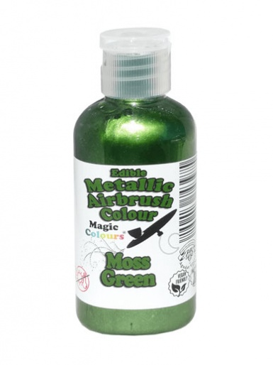 Magic Colours Metallic Airbrush Colour 55ml - Moss Green