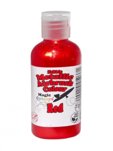 Magic Colours Metallic Airbrush Colour 55ml - Red