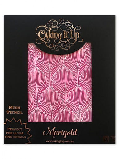 Caking It Up - Mesh Stencil - Marigold