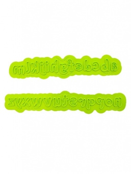 Bubble Lowercase Alphabet Flexabet - Marvelous Molds