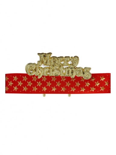 Red & Gold Stars Ribbon & Motto