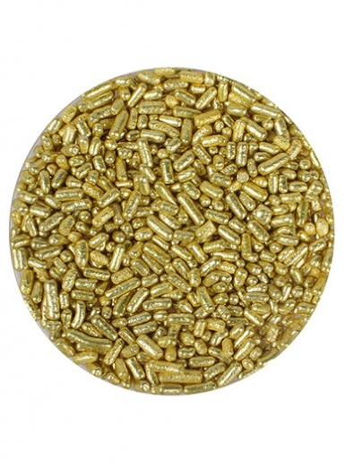 Gold Metallic Vermicelli - 100g